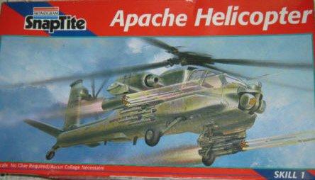 REVELL SNAPTITE APACHE HELICOPTER MODEL KIT SKILL 1 1998