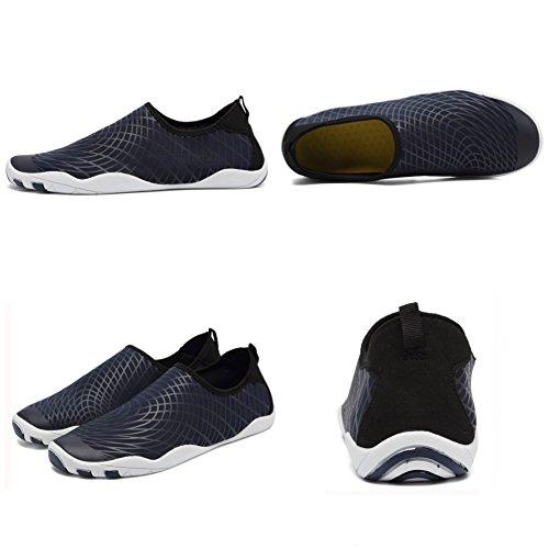 CIOR Männer Frauen Barfuß Quick-Dry Wasser Sport Aqua Schuhe mit 14 Drainage Löcher für Schwimmen, Walking, Yoga, See, Strand, Garten, Park, Fahren B.navy