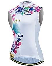 Aogda Cycling Jerseys Women Bike Sleeveless Shirts Team Biking Top Vests Clothing