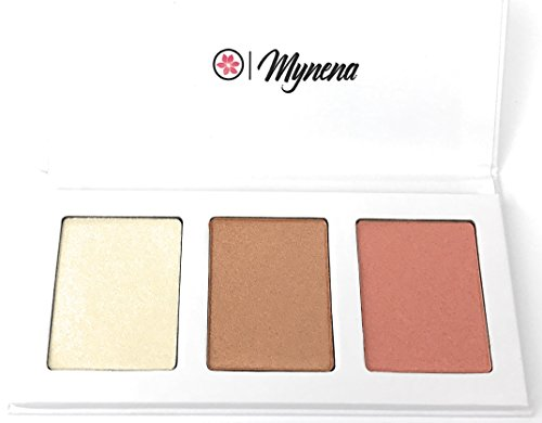 Highlighter Palette 1 Highlight Illuminator and Bronzer Makeup Glow Kit Highly Pigmented