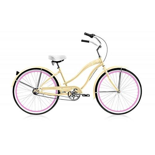Micargi Rover NX3 Beach Cruiser Bike, Vanilla, 26-Inch