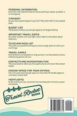 travel planner travel rocket books travel journal