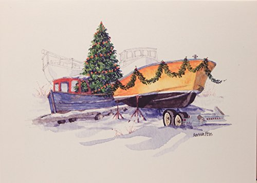 onion hill designs bedecked in the boatyard christmas cards - Nautical Christmas Cards