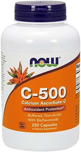 NOW Supplements, Vitamin C-500 Calcium Ascorbate, 250 Capsules