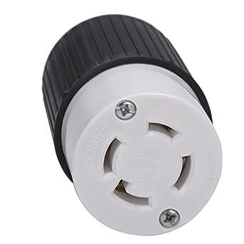 l14 30r 30 amps 125 250v 4 prong generator twist locking plug rh amazon com