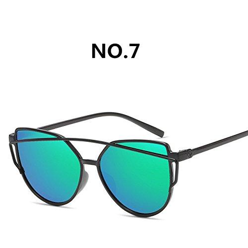 moda diseñador de sol de retro ZHANGYUSEN C7 nuevas Gafas colorido 2018 del de sol de gafas marca moda de Mujeres gafas Pop C8 UTw6nqT7