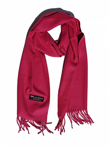 Hot Pink_(US Seller)Scarves SOLID Scotland Wool Warm THICK WINTER Scarf