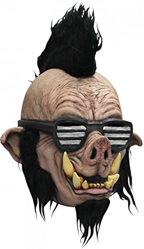 Ghoulish Productions Child Size Boar Punk Halloween Mask Full Over Head Latex Mask