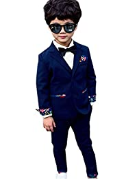 Theplus Boy 3-piece Formal Suit with Vest Ring Bearer Outfit