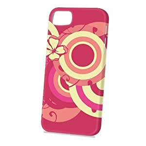 Case Fun Apple iPhone 5 / 5S Case - Vogue Version - 3D Full Wrap - Pink and Yellow Circles