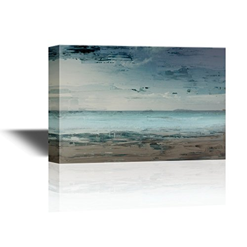 Abstract Seascape with Beach and Sea Horizon