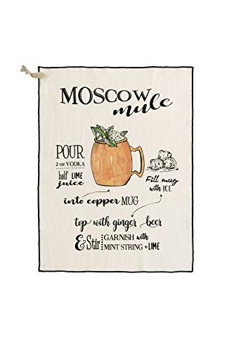 (Shiraleah Home Moscow Mule Tea Towel, White)