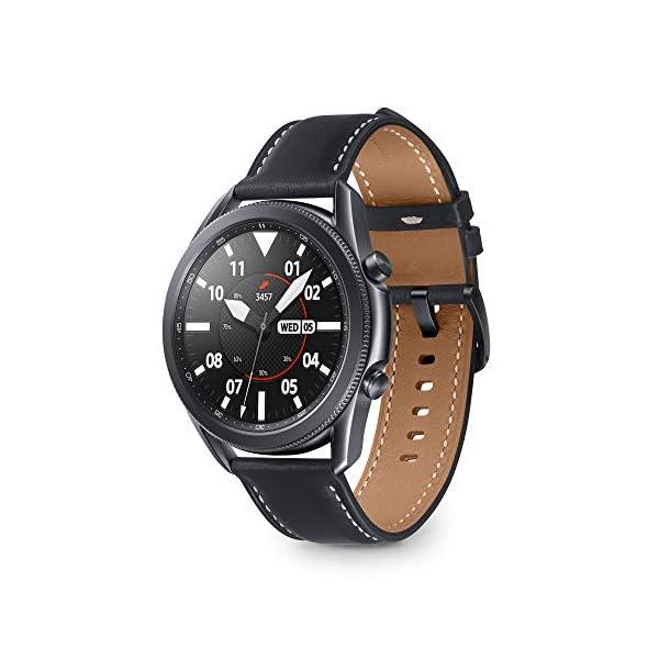 Samsung Galaxy Watch3 Smartwatch Bluetooth, cassa 45mm acciaio, cinturino pelle, Saturimetro, Rilevamento cadute… 1