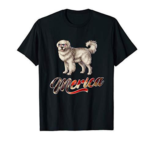 - Polish Tatra Sheepdog Breed Dog America Flag Patriot T Shirt