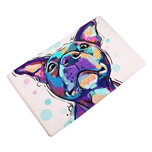 Sothread 40x60cm Soft Non-slip Rectangle Dog Printed Carpet Mats Bath Area Rug Doormats (Halloween Special 100 Floors 4)