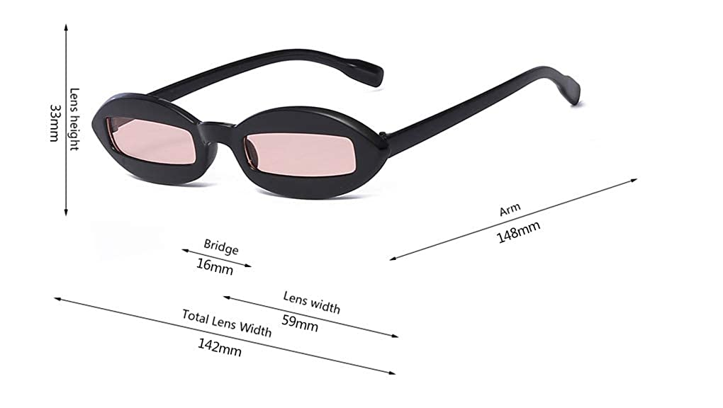 GAMT Oval Sunglasses For Women Men Tide Retro Small Frame Personality Glasses