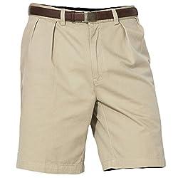 Polo Ralph Lauren Tyler Pleated Chino Shorts, 33, Stone