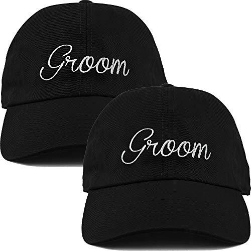 H-214-2-Groom-06 Dad Hat Unconstructed Baseball Cap Same-Sex Marriage Bundle