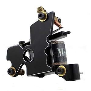 HoriKing Tattoo Supply Linear Cutting Steel New 10 Wrap Coils Tattoo Machine Gun for Shader Supply balck