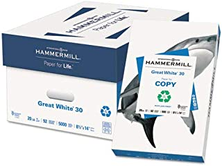 product image for Great White 30 Recycled Paper, 92 Bright, 20lb, 8-1/2 x 14, 500 Sheets/Ream