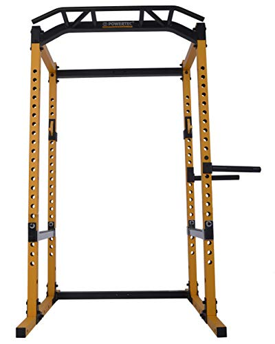 (Powertec Fitness Power Rack, Yellow)
