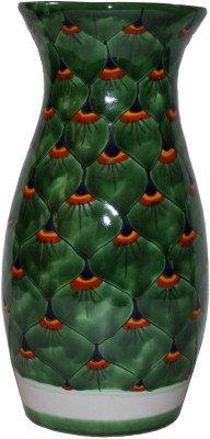 (Fine Crafts Imports Peacock Talavera Round Flower Vase)