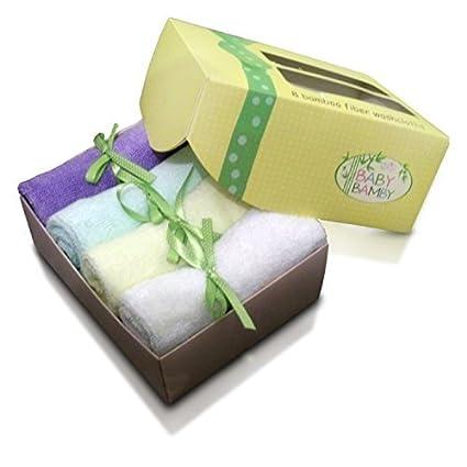 Bambú bebé Toallitas (8 unidades) paño suave y húmedo toallitas nuevo bebé ducha regalo