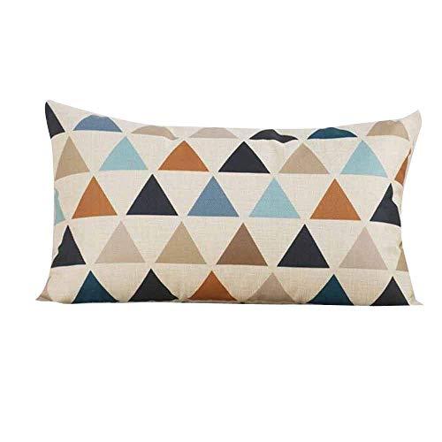 Sunhusing Rectangle Cushion Cover Soft Sofa Decor Silk Throw ()
