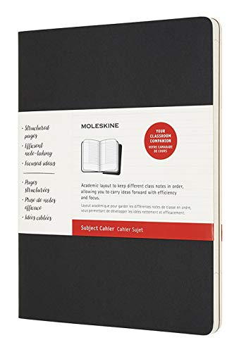 Moleskine Subject Cahier Soft Cover Journal, Set of 2, XL (7.5