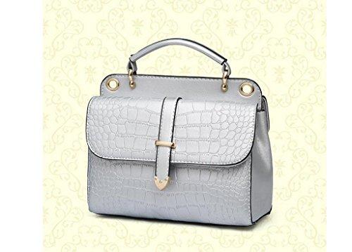 La nueva ola de bolsos de la manera, hombro, paquete diagonal del bolso del patrón de cocodrilo Silver