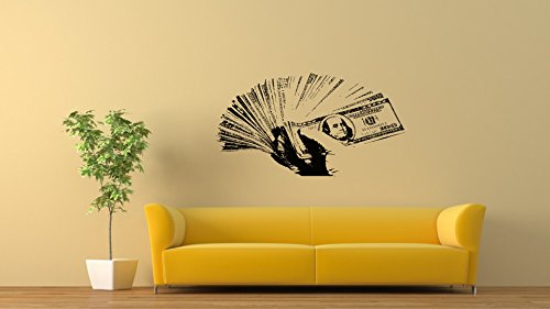 Hand Cash Money Decals 100 Dollar Bills Stickers Decorative Design Ideas For Your Home or Office Removable Vinyl Murals DB0133