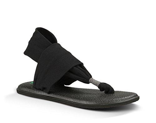 Sanuk Women's Yoga Sling Slingback Sandal,Black,7 M US