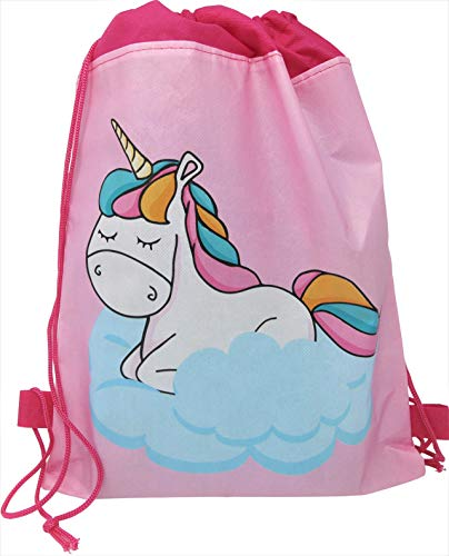 (Unicorn Dreams - Party Favor Drawstring Loot Bags Birthday Supplies )