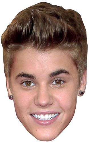 Justin Bieber Celebrity Mask, Cardboard Face and Fancy - Cardboard Cutout Celebrities