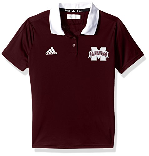 adidas NCAA Mississippi State Bulldogs Adult Women NCAA Sideline Women's Polo, Large, Maroon