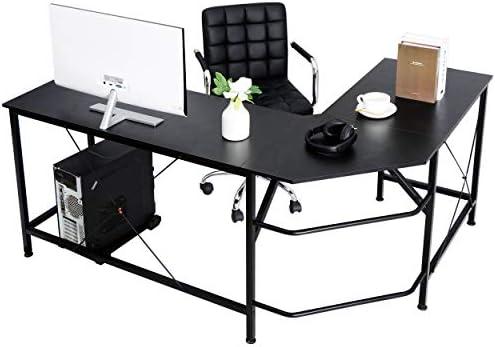 SUPER DEAL L-Shape Corner Computer Desk