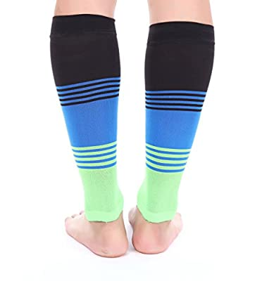 Premium Calf Compression Sleeve DRESS SERIES 1 Pair 20-30mmHg Open Toe Strong Calf Support Graduated Pressure Sports Running Muscle Recovery Circulation Shin Splints Varicose Veins XL 2XL Doc Miller