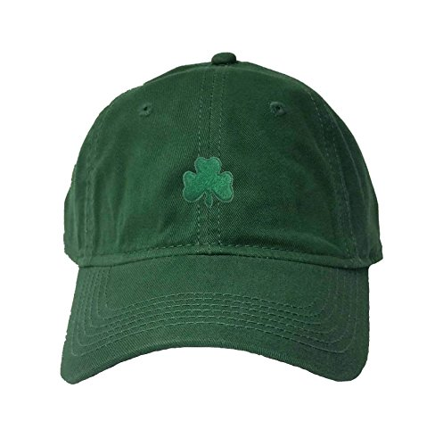 Go All Out Adjustable Dark Green Adult Shamrock St. Patrick's Day Embroidered Deluxe Dad Hat