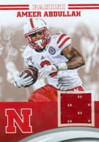 low priced c79bb 81a7c Ameer Abdullah player worn jersey patch football card ...