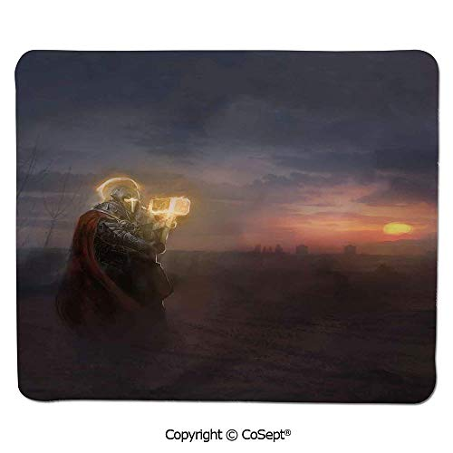 Mouse Pad,General Leading His Army in War Infantry Knight Armour Battle Scene in Dark Night,for Computer,Laptop,Home,Office & Travel(15.74