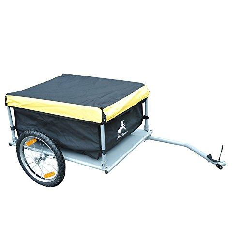 Aosom Elite Bike Cargo / Luggage Trailer - Yellow / Black by Aosom (Image #4)