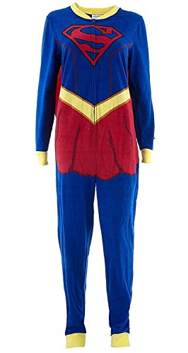 Briefly Stated Women's Supergirl Union Suit, Multi-Colored, Large