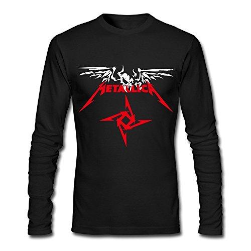 100% Cotton Men's Metallica Heavy Metal Band Skull Logo T-shirts Black