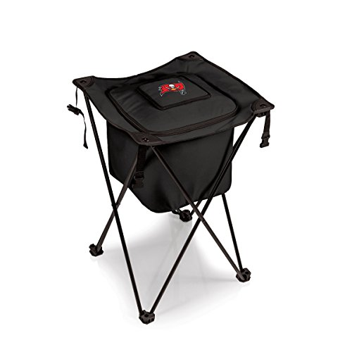 NFL Tampa Bay Buccaneers Sidekick Insulated Portable Cooler with Integrated Legs, Black
