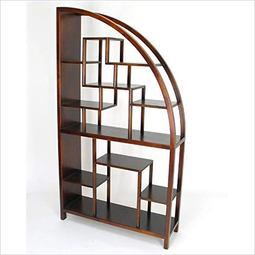 Wayborn Home Furnishing 5542 Curved Modular Bookcase, Brown