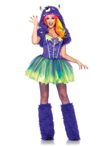 Leg Avenue Women's 2 Piece Purple Posh Monster Costume, Purple, -