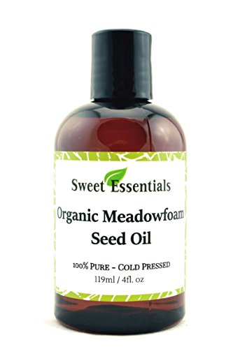 Meadowfoam Seed Oil - 100% Pure Organic Meadowfoam Seed Oil | 4oz | Cold Pressed | For Hair, Skin & Nails | Eyelash Growth | For All Skin & Hair Types | Also Excellent For Mature Skin