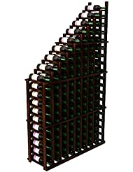 Left Falling Waterfall Wine Rack Prime Mahogany Dark Walnut Stain