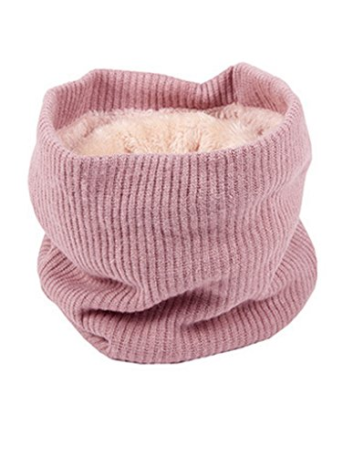 Winter Neck Warmer Fleece Lined Infinity Scarf Soft Thick Circle Loop (Dog Fleece Scarf)