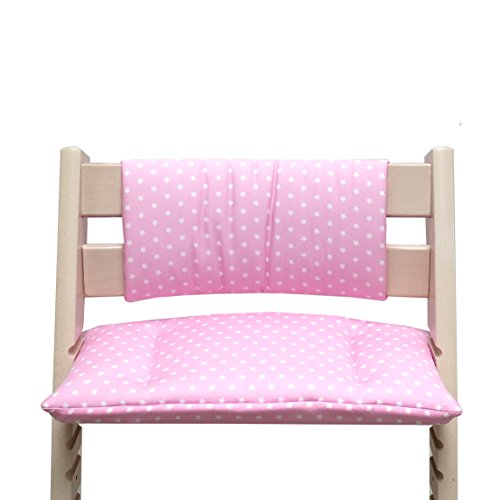 Blausberg Baby - Cushion Set Junior for Tripp Trapp High Chair of Stokke - Pink Star
